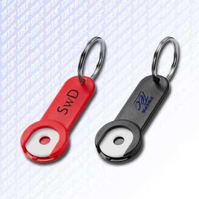 Porte-jeton de caddie porte-clé en plastique