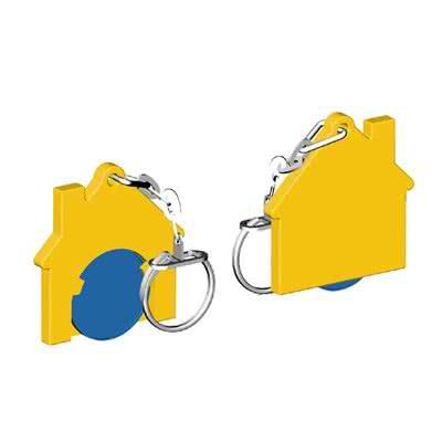 """Porte-jeton 1 euro pour caddie """"Maison"""
